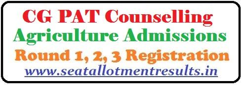 CG PAT Counselling 2019