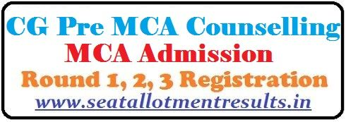 CG Pre MCA Counselling 2019